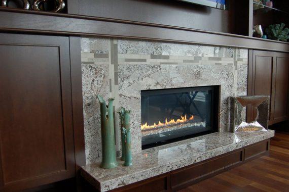 granite fireplace surroundings chicago
